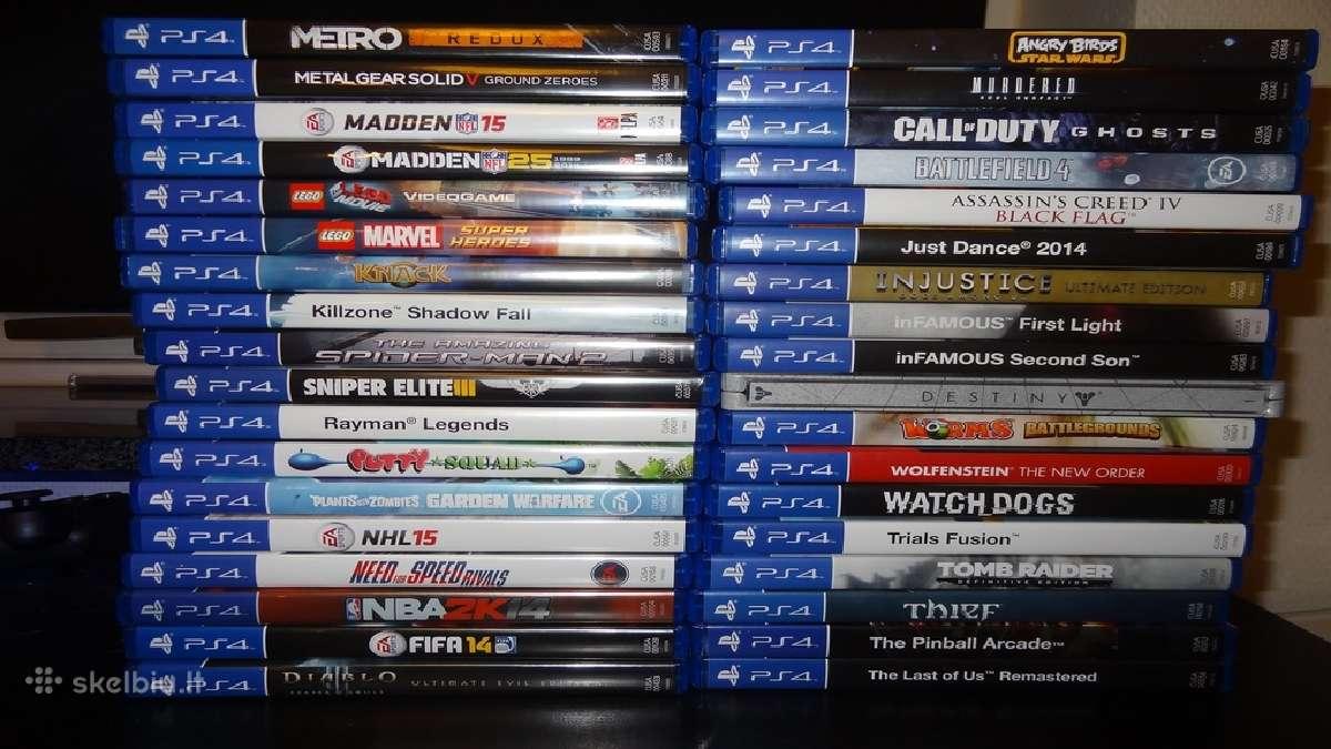 Nupirkčiau Playstation 4 žaidumus