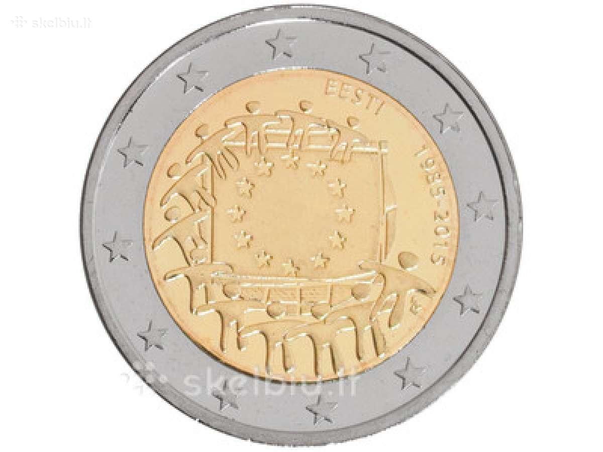 Estija, 2015 m. 2 Eur Es vėliavos 30-čiui