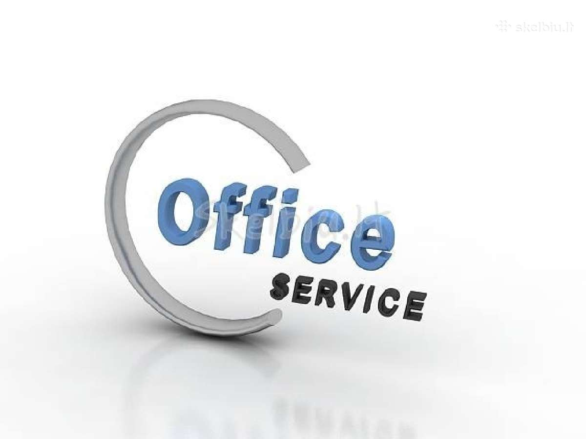 Reg.adresas, ofisas,sekretorė Tik 6,33 Eur/mėn