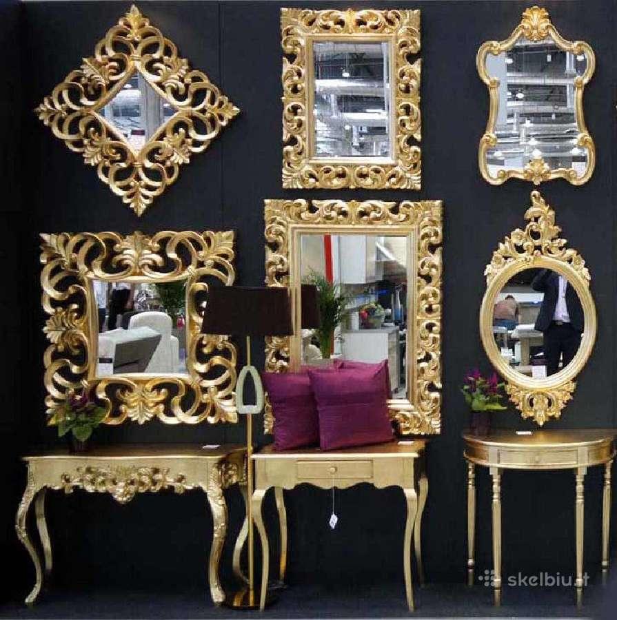 Klasikiniai, modernūs, dekoratyviniai veidrodžiai