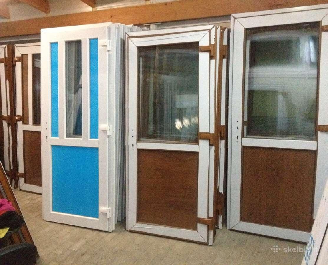 Plastikiniai Langai-lauko durys Nuo130 -stiklo paketai.