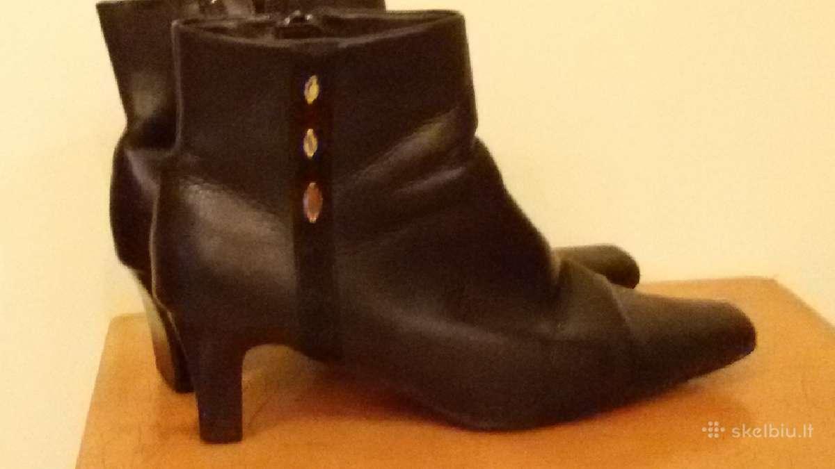 Moteriški juodos naturalios odos batai