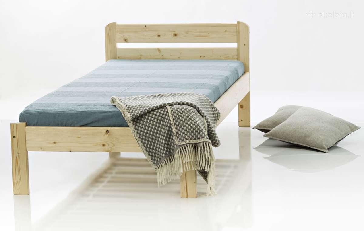 Tvirta kokybiška lova iš natūralaus medžio