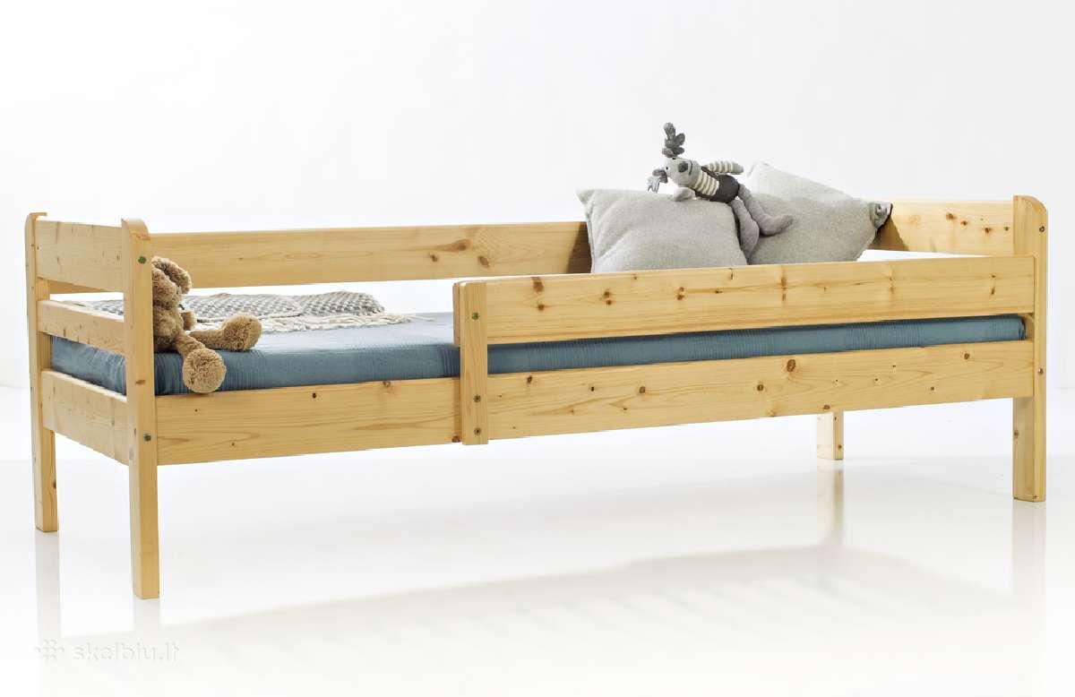 Saugi patvari lovytė vaikui su čiužiniu