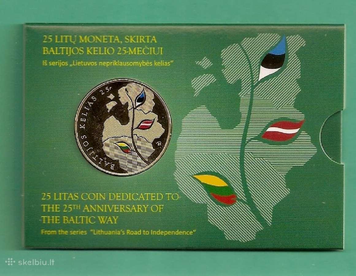 2014m. 25 Litu moneta, skirta Baltijos kelio 25-me
