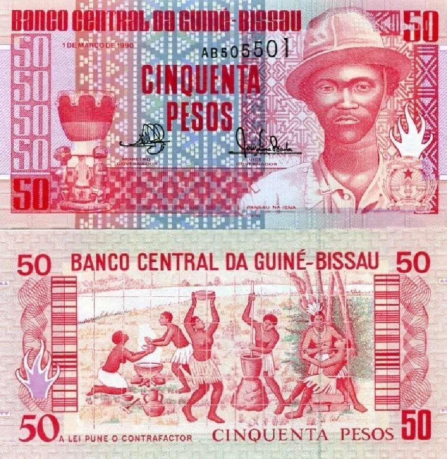 Bisau Gvinėjos Respublika 50 Pesos 1990m. P10 Unc