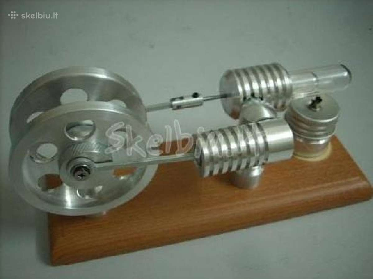 Stirlingo variklis - veikia nuo ugnies