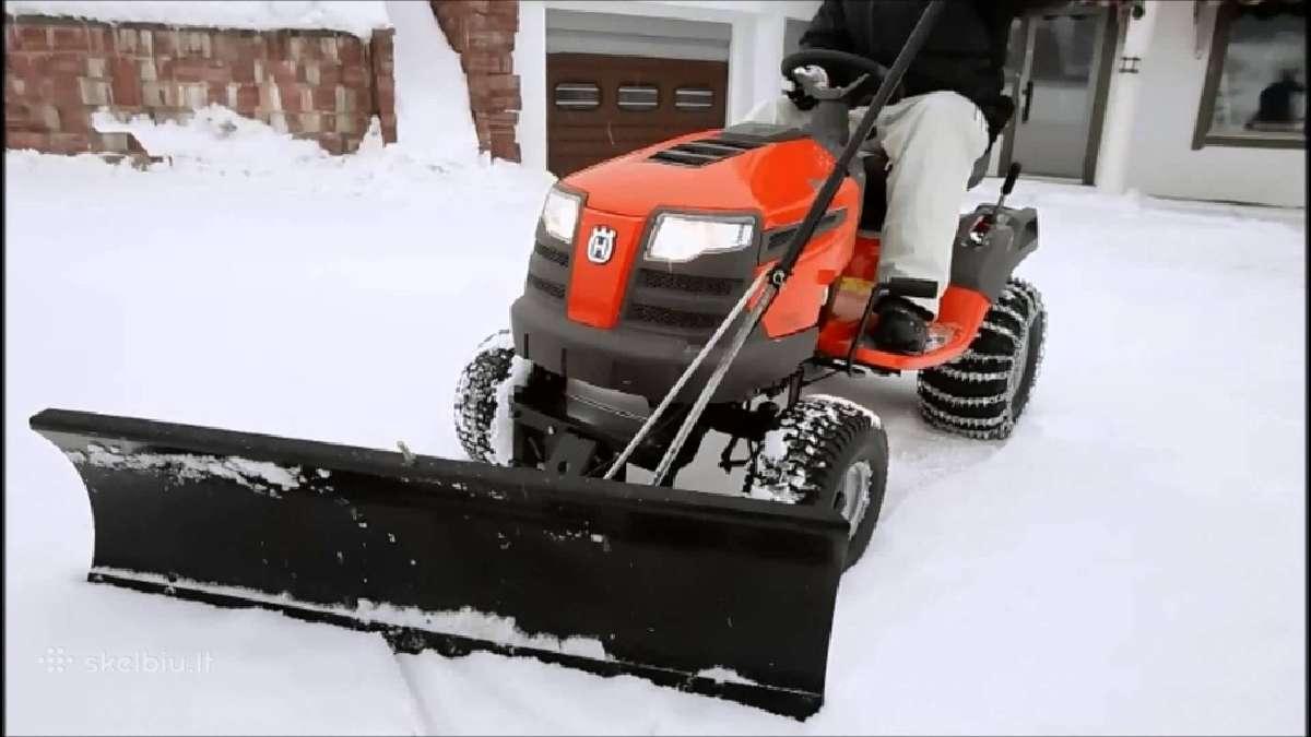 Sniego peiliai sodo traktoriams, Ispardavimas!