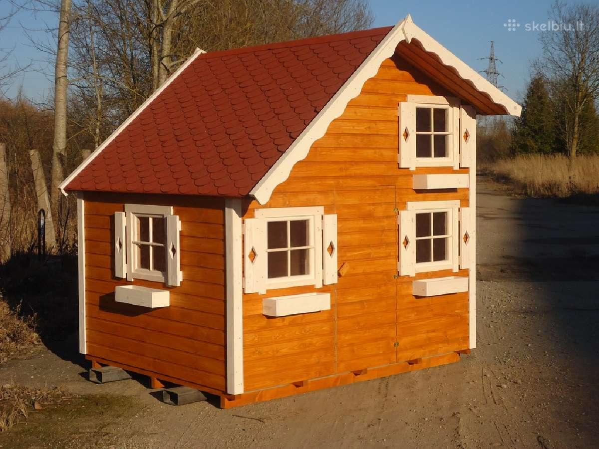 Mediniai vaikiški nameliai