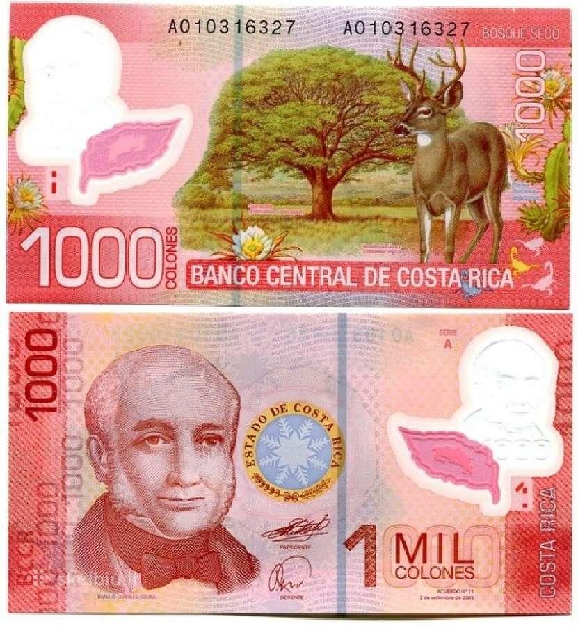 Kosta Rika 1000 Colones 2009m. Unc
