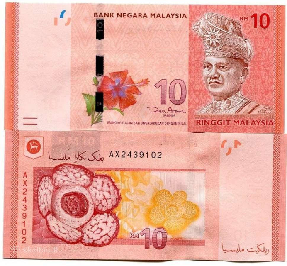 Malaizija 10 Ringgit 2012m. P53 Unc