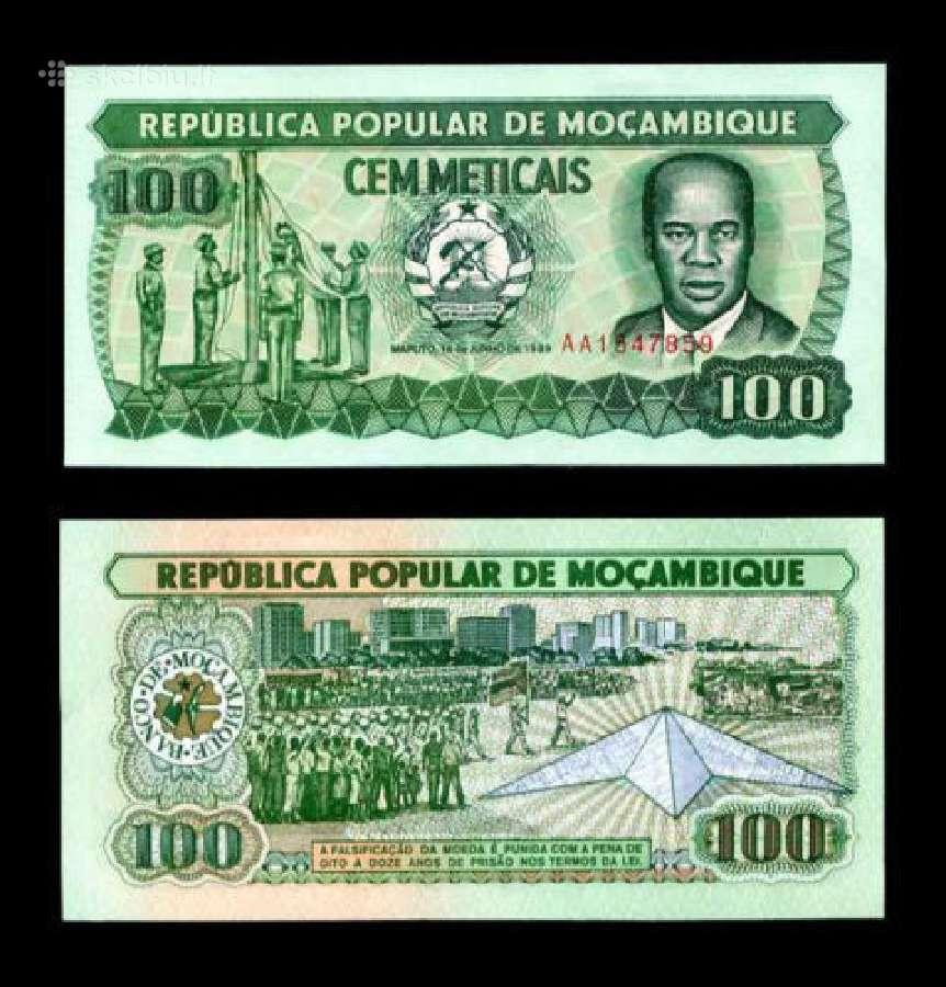Mozambikas 100 Meticais 1989m. P130 Unc