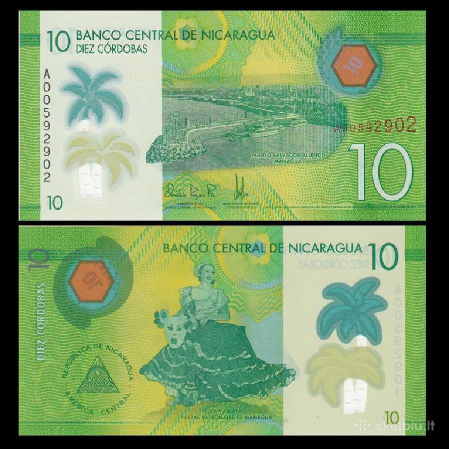 Nikaragva 10 Cordobas 2015m. Unc