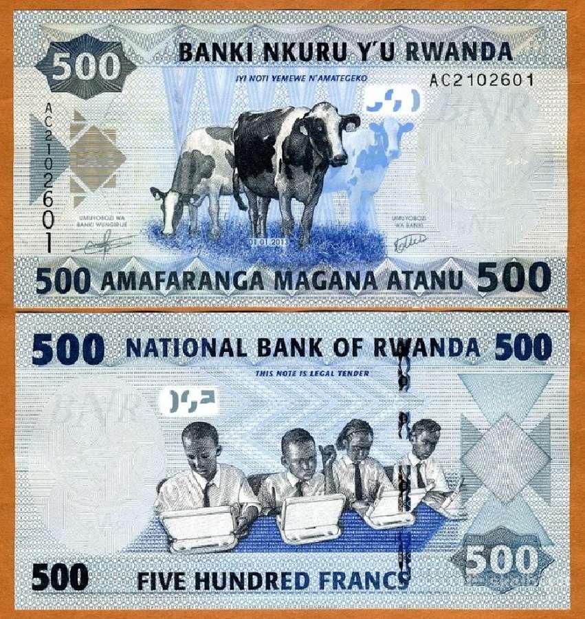Ruanda 500 Franku 2013m. P38 Unc