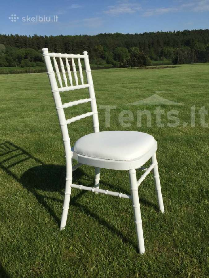 bambukinių baltų kėdžių nuoma tents