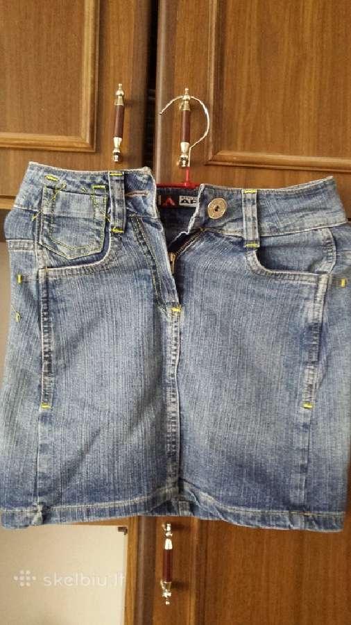 Naujas dzinsinis sijonas