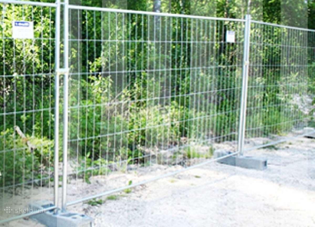 Laikinos tvoros Tvora Laikina Statybine Tvora