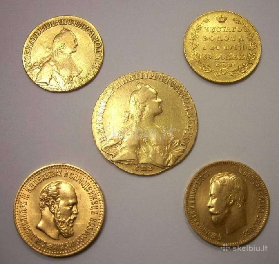 Brangiausiai kolekcijai perku auksines ir sidabrin