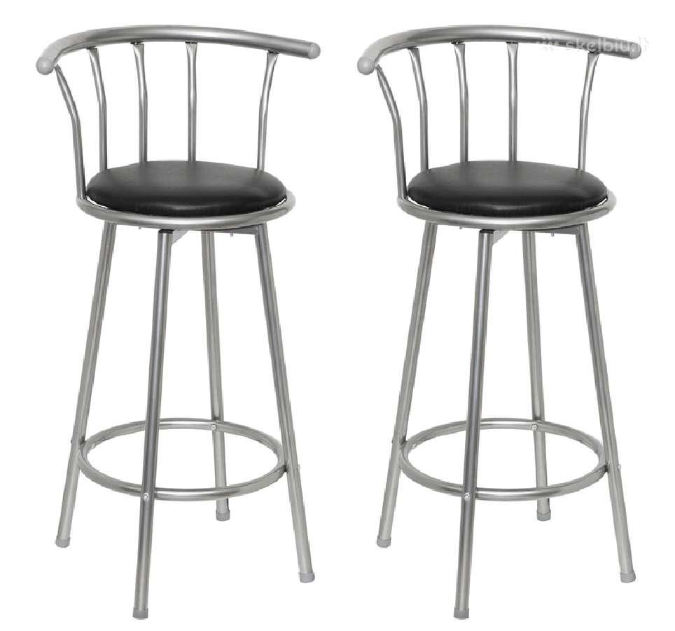 Dviejų Baro Kėdžių Komplektas, Oda ir Plienas