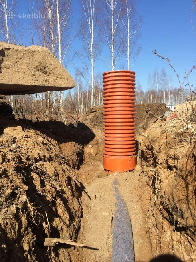 Lietaus kanalizacijos, drenažo irengimas