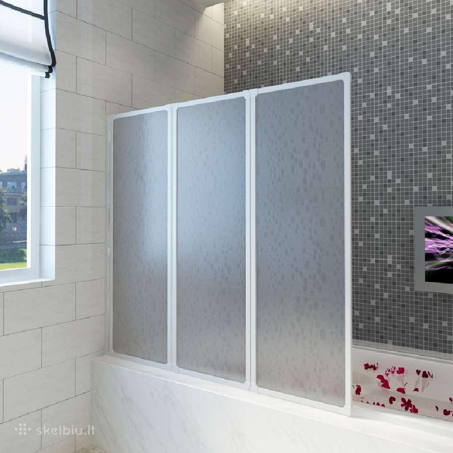 Dušo, Vonios Pertvara, 117 x 120 cm - vidaxl