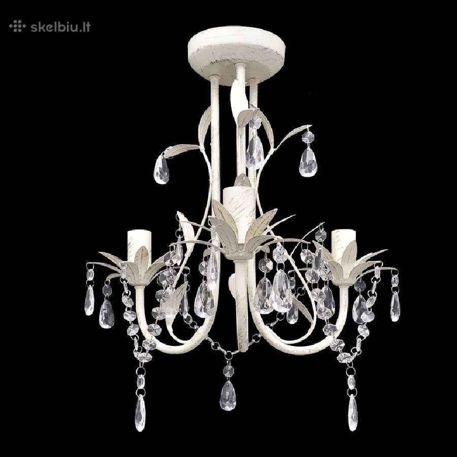 Elegantiškas Lubų Šviestuvas, Sietynas, 3 Lempučių