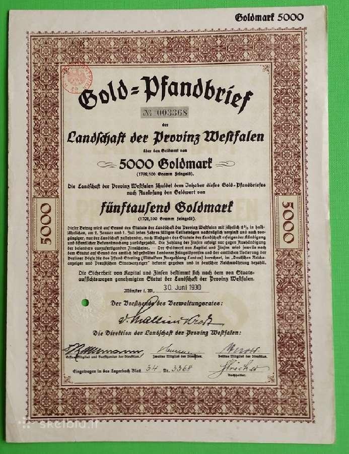 5000 Goldmark 1930 m.