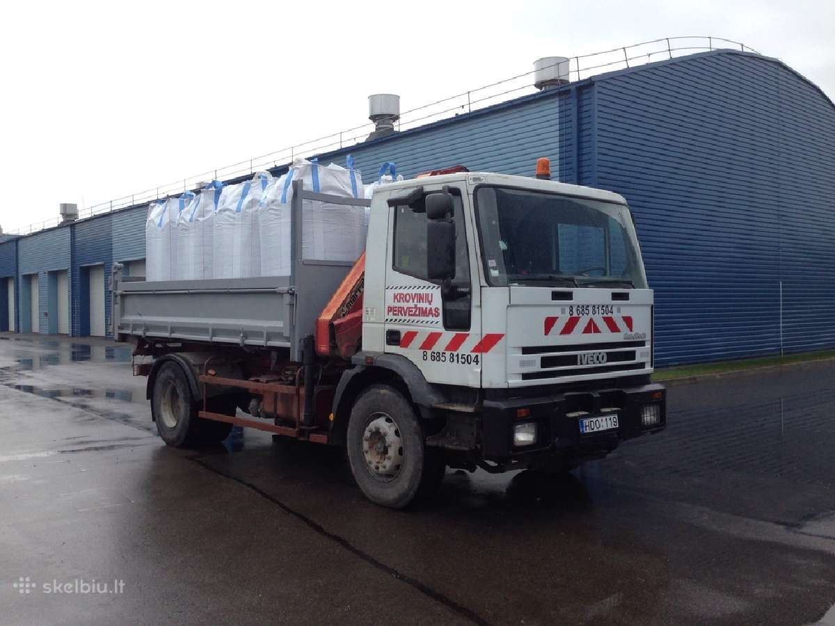 Krovinių pervežimas savivarčiu su kranu iki 10t