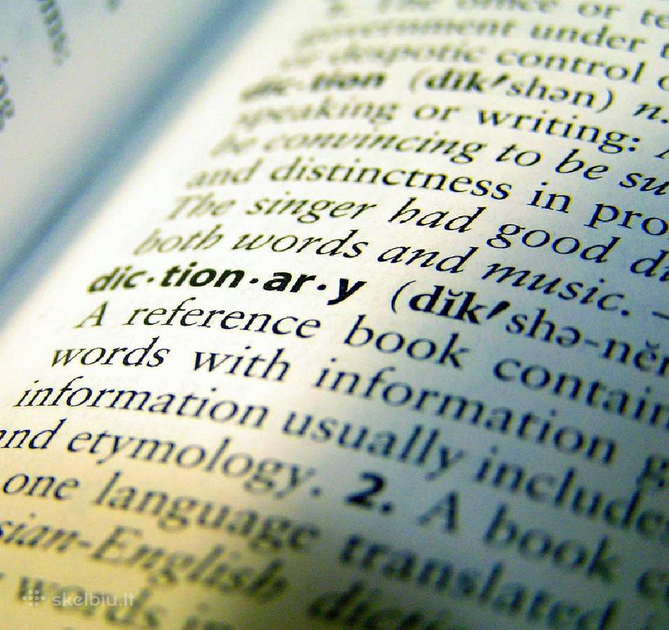 Naudoti žodynai