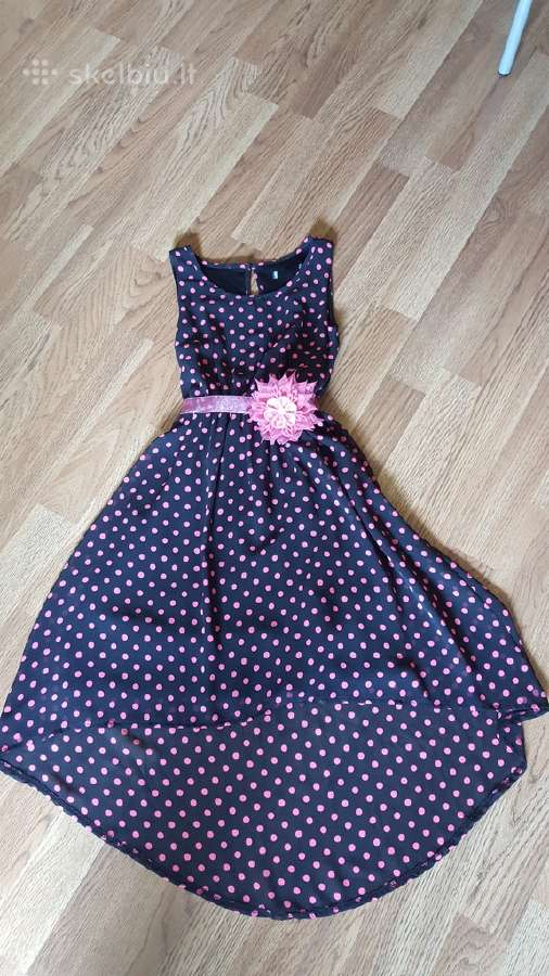 Mergaitiška proginė suknelė. Tinka išleistuvėms.