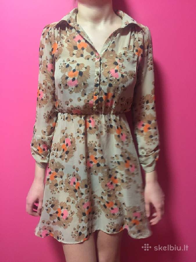 Vasariška gėlėta Atmosphere suknelė ilgom rankovėm