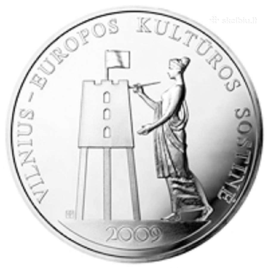 Vilnius 50 litų 2009 m. sidabras