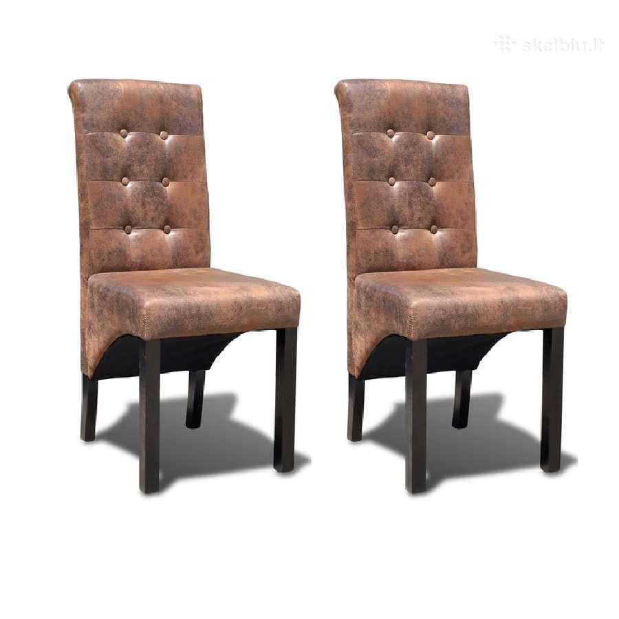 Dviejų Aukštos Kokybės Valgomojo Kėdžių Komplektas