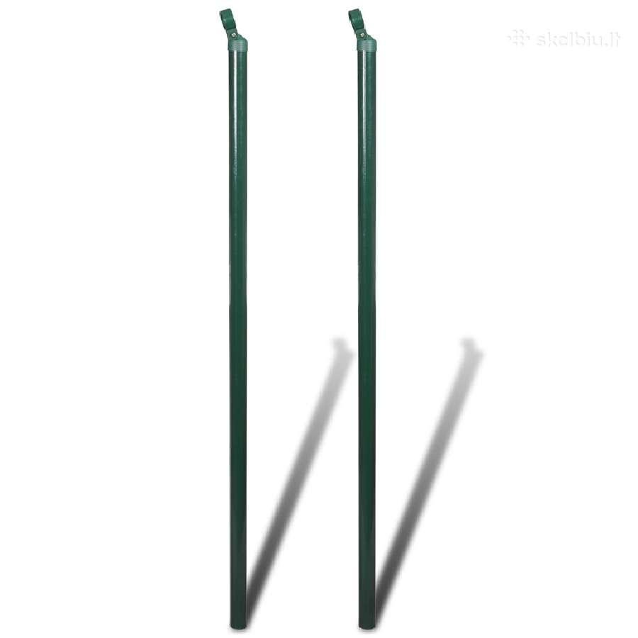 2 Atraminiai Tvoros Stulpai 200 cm, vidaxl