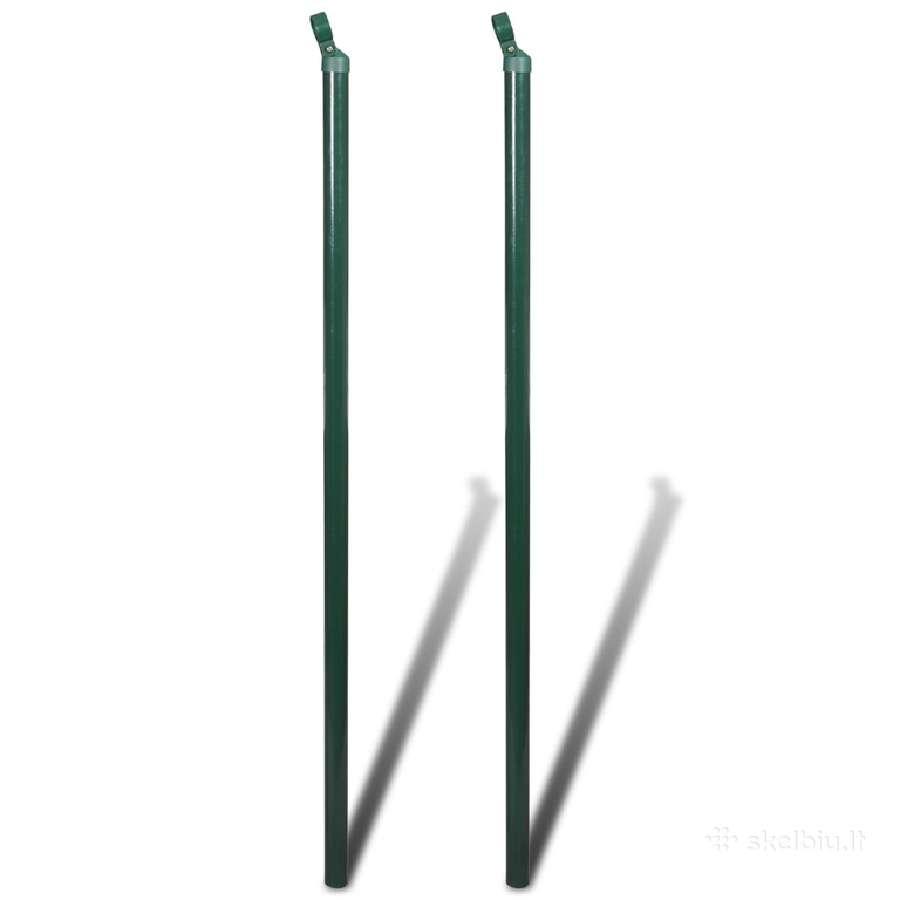 2 Atraminiai Tvoros Stulpai 150 cm - 140361 vidaxl