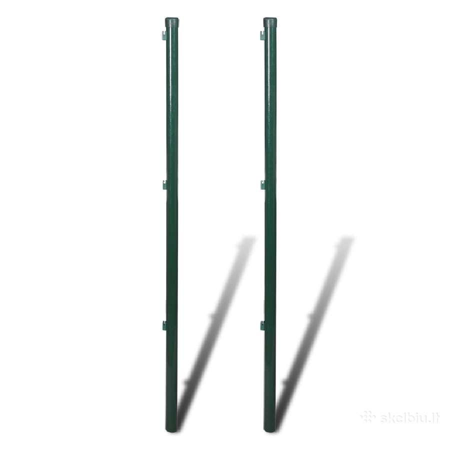 2 Tvoros Stulpai 175 cm, vidaxl