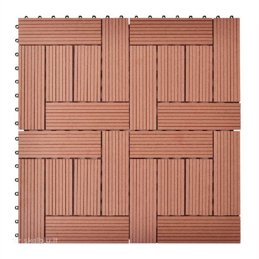 Rudos Terasinės Plytelės 1 m2 - 41550 vidaxl