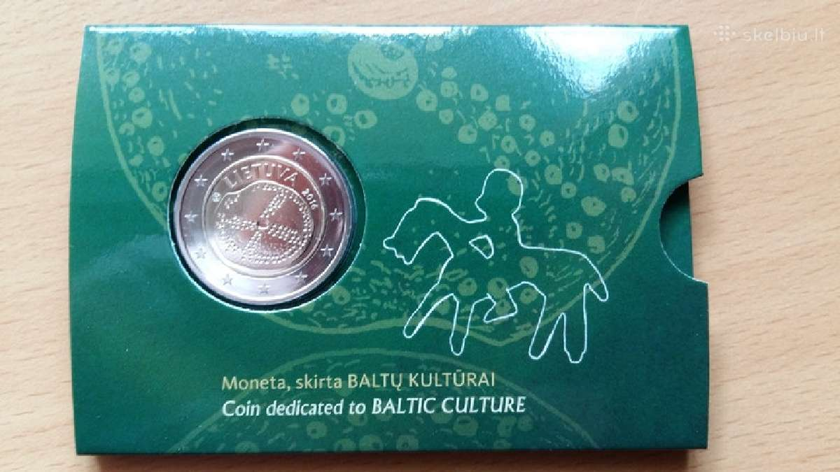 Lietuva 2 eurai 2016 Baltistikai Bu kortelėje