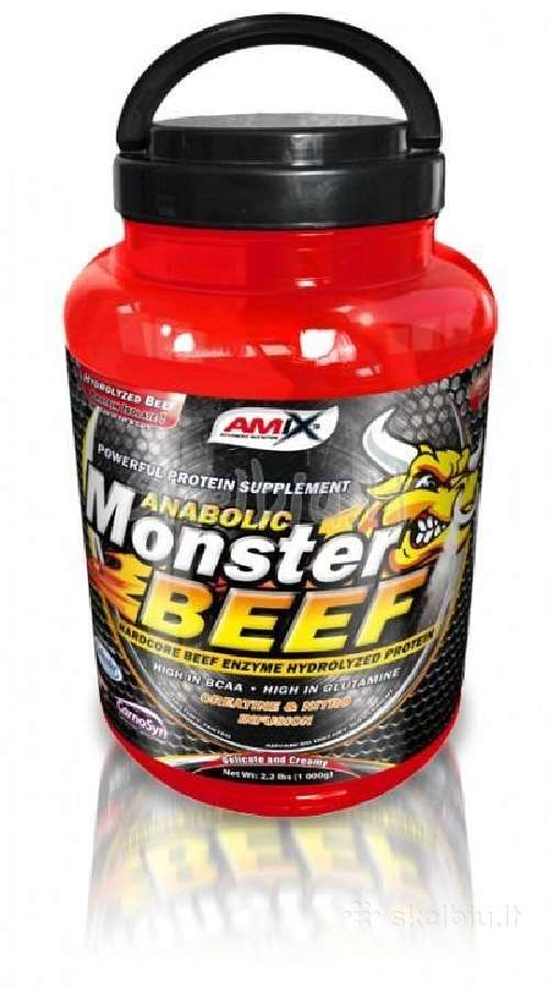 //Monster Beef Protein 2.2kg 40€ + dovanos