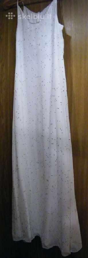Vestuvinė suknelė su sidabriniais burbuliukais