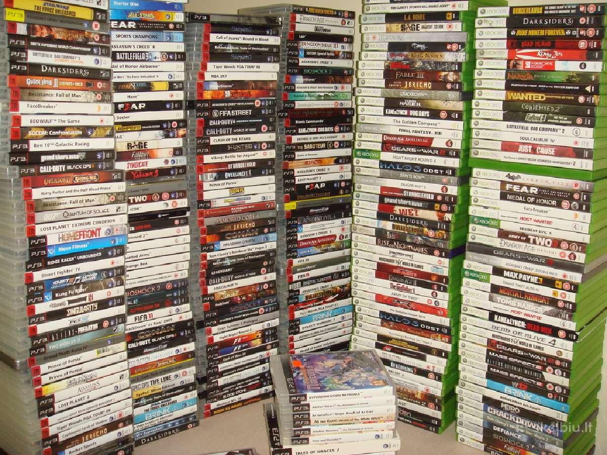 Parduodu Xbox One / Xbox 360,ps2,PS3,ps4 zaidimus