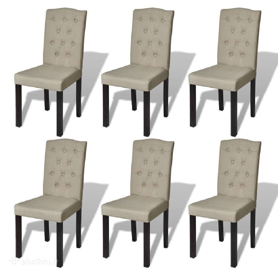 6 Senovinio Stiliaus Valgomojo Kėdės, vidaxl