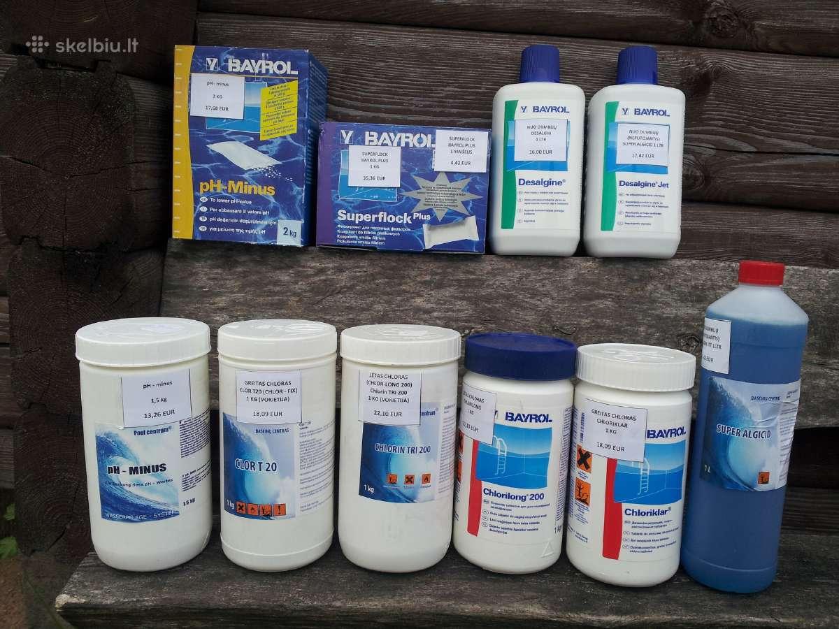 Baseinų chemija, priežiūros priemonės