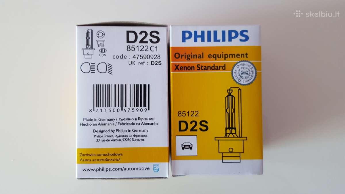 Xenon lemputes Philips D2s 85122 25eur