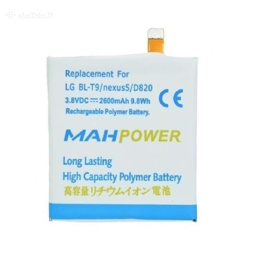 Lg Nexus 5 padidintos talpos baterija