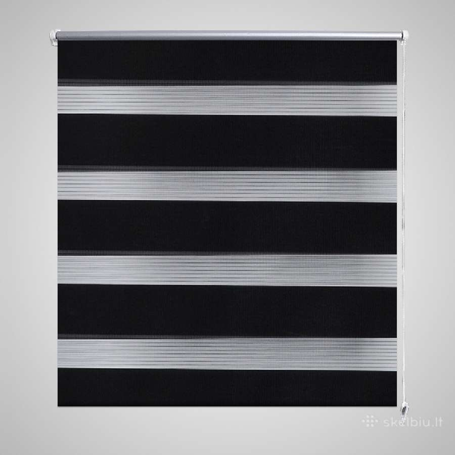 Zebra Žaliuzė, Roletas, Juodas.240196.vidaxl