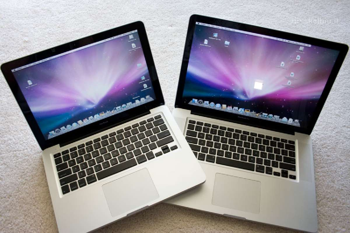 Apple MacBook Pro ir Air Dalimis