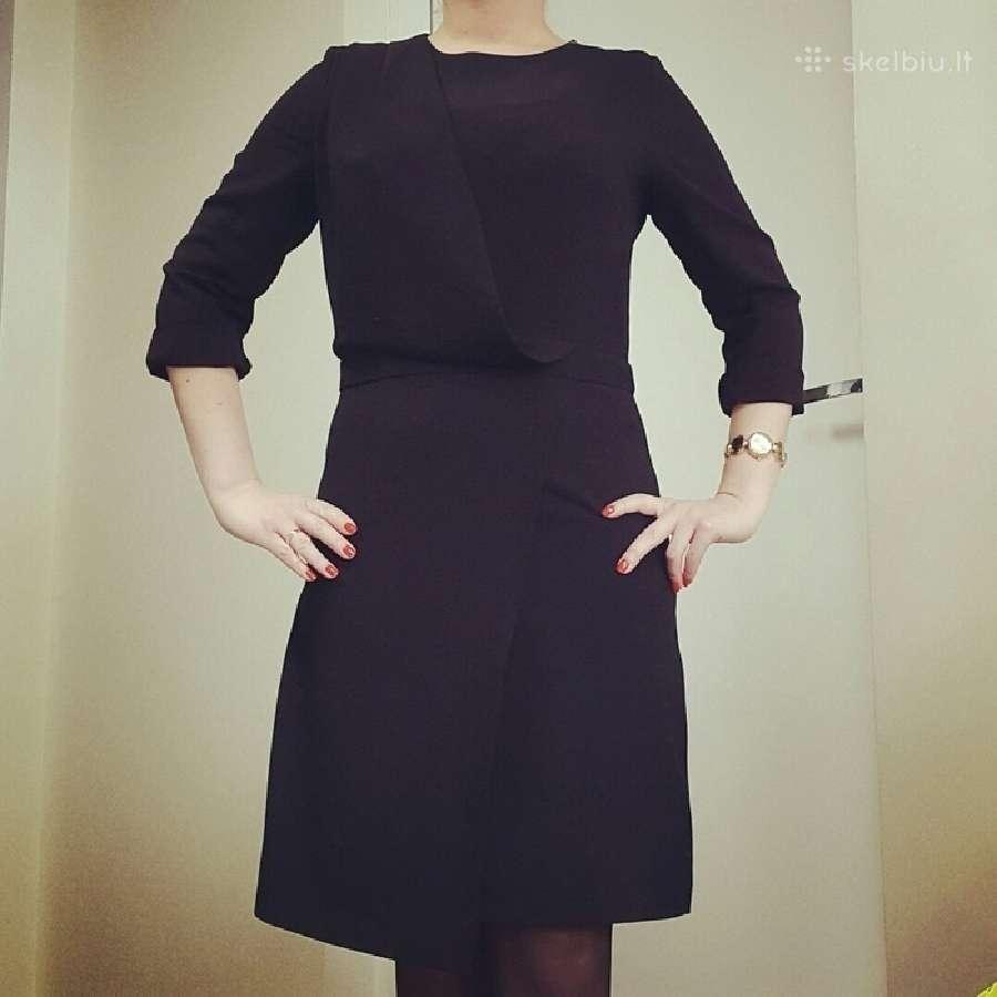 Asimetriska juoda suknele