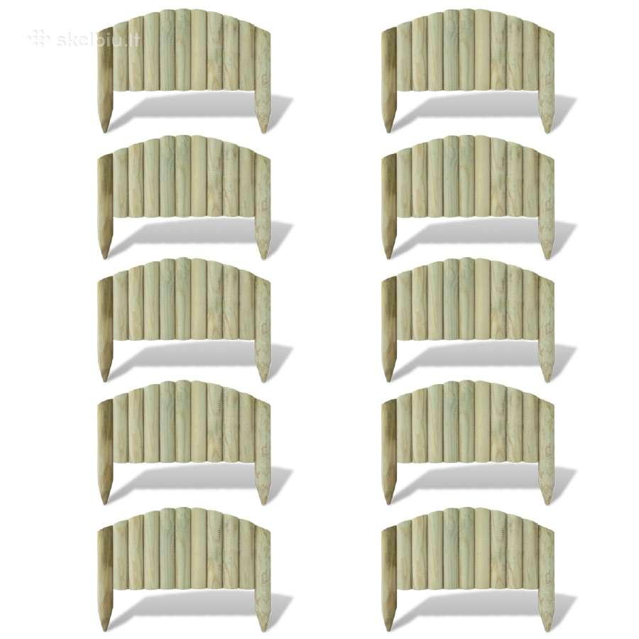 60cm Rąstų Tvoros Segmentai Vejai Aptverti, 10 vnt