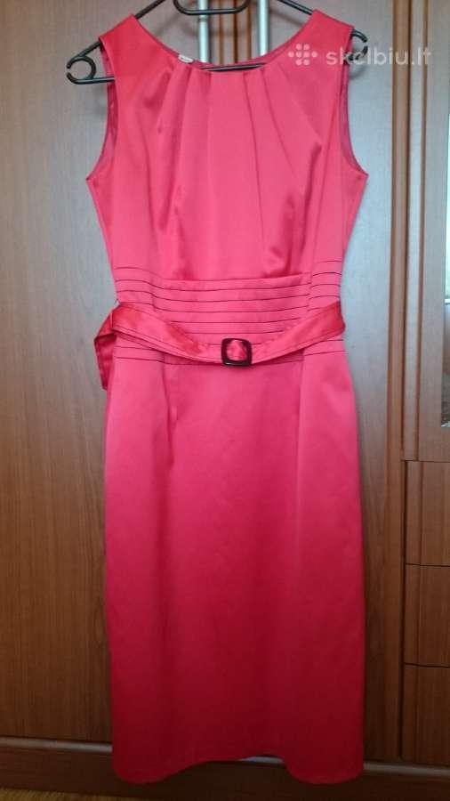 Raudona proginė suknelė, 38 dydis.